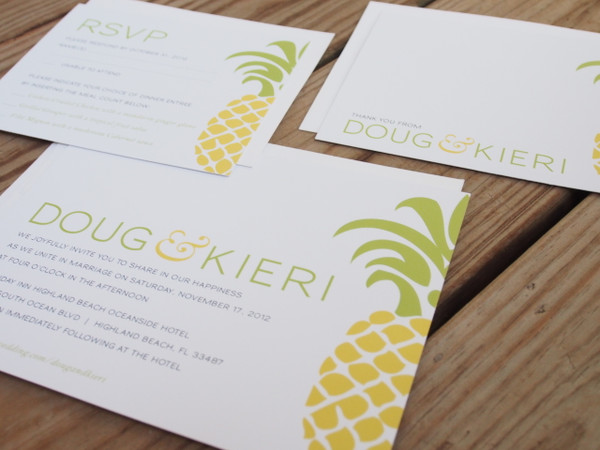 Tropical Pineapple Wedding Invitation