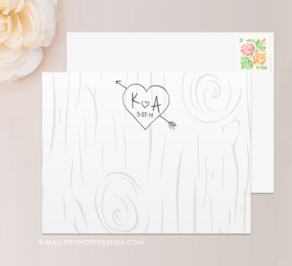 Tree Carving Thank You Card (flat)