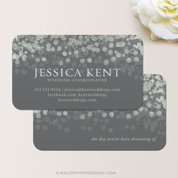 Champagne Bubbles Business Card