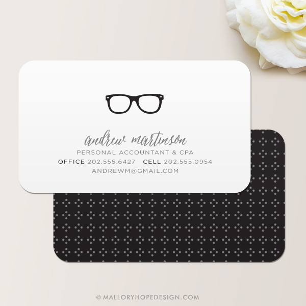 Nerd Glasses Business Card