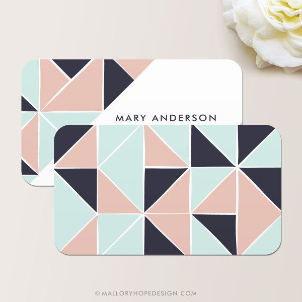 Geometric Business Card Back