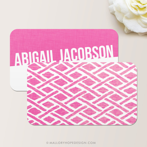 Faux Fabric Business Card