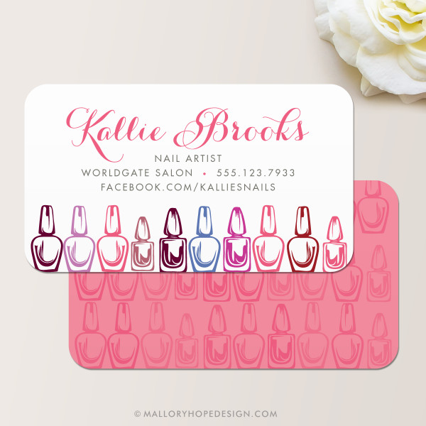 Nail artist business card mallory hope design nail artist business card nail salon business card colourmoves Image collections