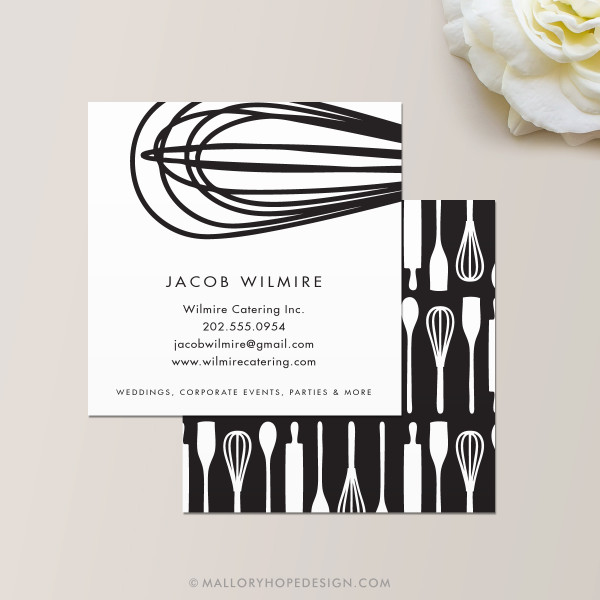 Baker or chef square business card mallory hope design baker or catering chef square business card colourmoves