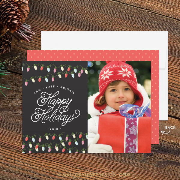 Twinkle Lights Photo Holiday Card