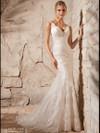 V-neck Lace Floor Length Mori Lee Wedding Dress 2708