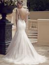 Casablanca 2185 Bateau Neckline Wedding Dress