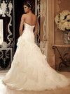 Sweetheart Pleated Organza Bridal Gown Casablanca 2105