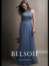 Belsoie L194009 High Illusion Neckline Bridesmaid Dress