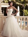 Sweetheart Ruched Organza Bridal Gown Casablanca 2109