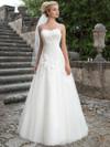 Sincerity 3906 Queen Anne Wedding Dress