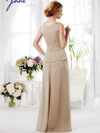 V-neck Pleated Mother Of The Bride Dress Jade J165019