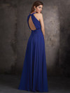 High Halter Neckline Allure Bridesmaids Long Dress 1427