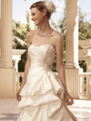 Sweetheart Beaded Crystal Satin Bridal Gown Casablanca 2111
