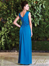 V-neck Beaded Mother Of The Bride Dress Jade Couture K168003