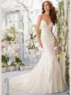 Morilee Blu 5415 Sweetheart Lace Wedding Dress