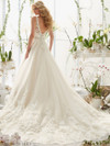 Mori Lee 2821 V-neck Beaded Lace Bridal Dress