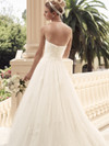 Sweetheart Ruched Satin Bridal Gown Casablanca 2108