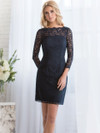 Long Sleeves Lace Belsoie Dress by Jasmine L164072