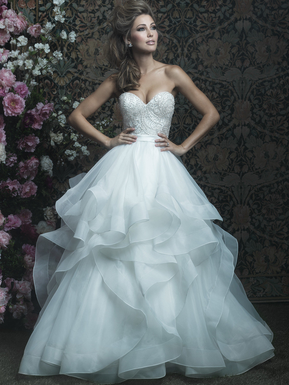 Allure Couture C417 Sweetheart Wedding Dress - Dimitra Designs