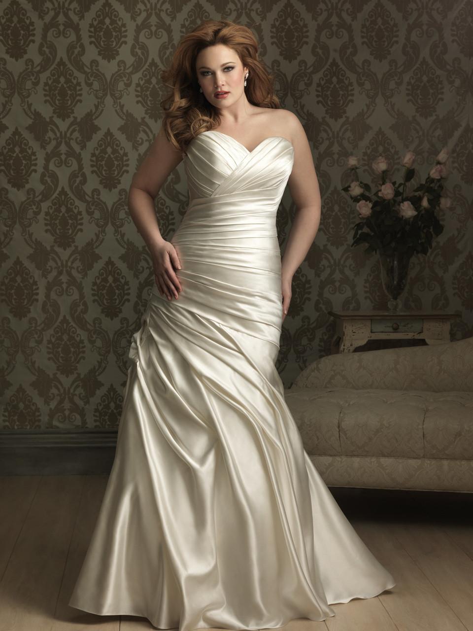 Allure Plus Size Wedding Dress W284