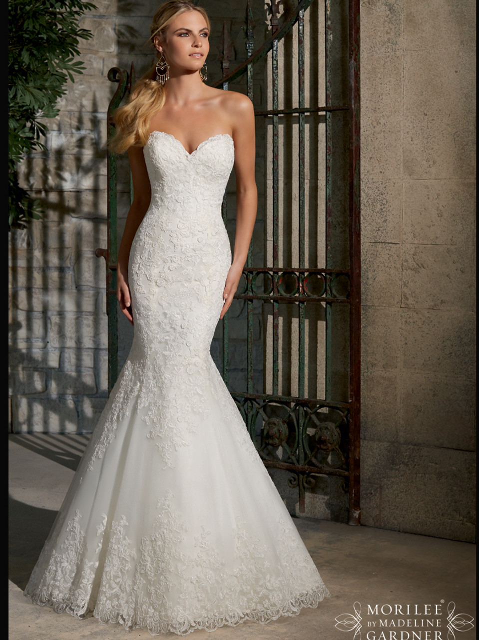 Sweetheart Lace Fit And Flare Mori Lee Wedding Dress 2713 - Dimitra ...