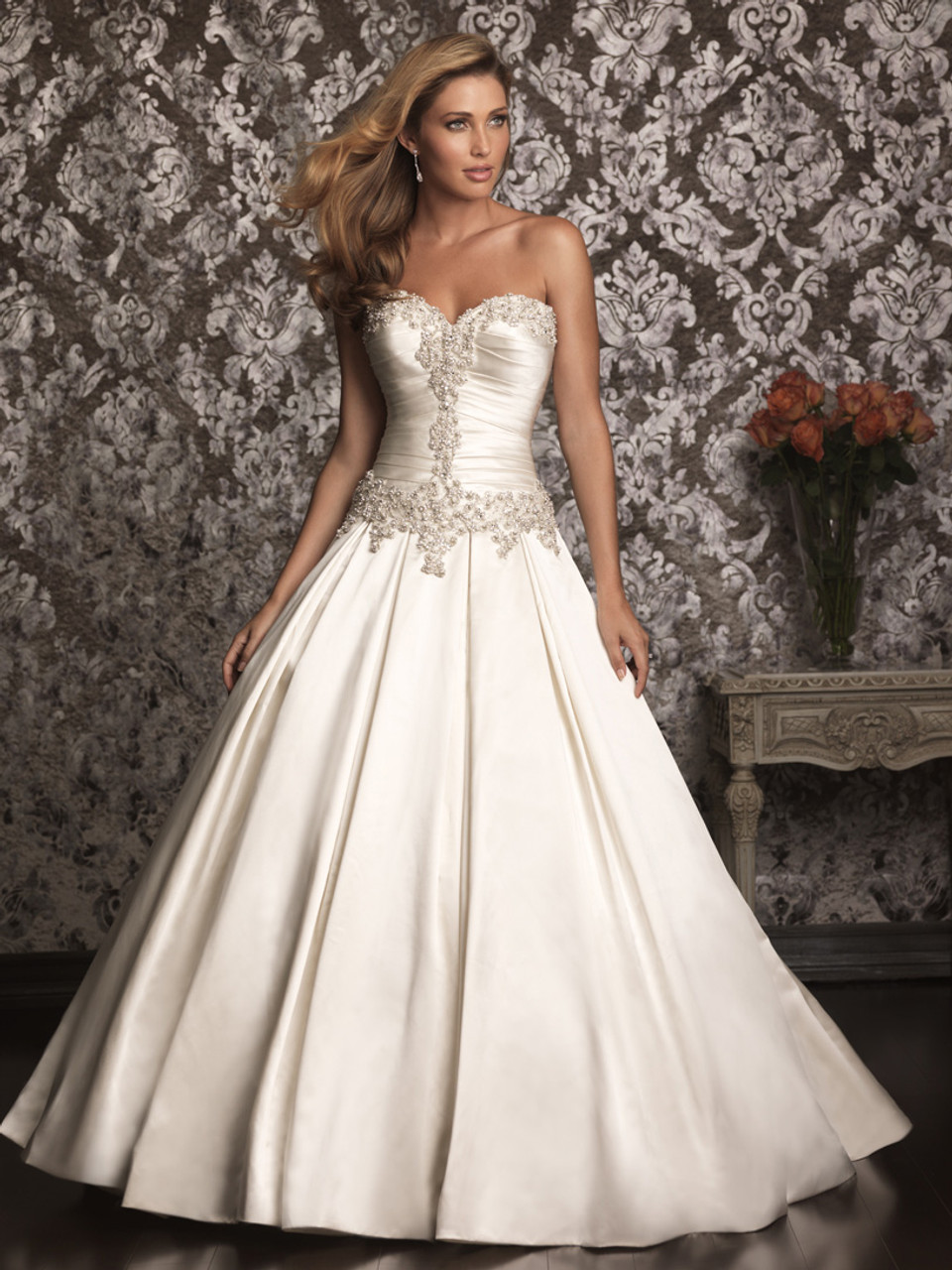Strapless Allure Bridal Ball Gown Wedding Dress 9003 - Dimitra Designs