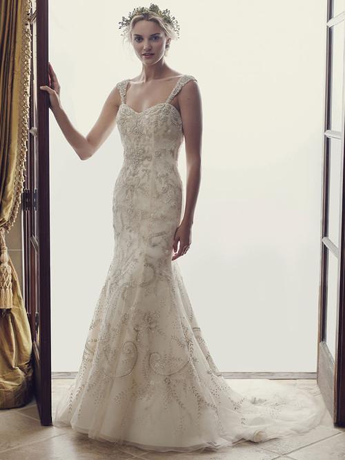 Casablanca 2227 Beaded Embroidery Wedding Dress