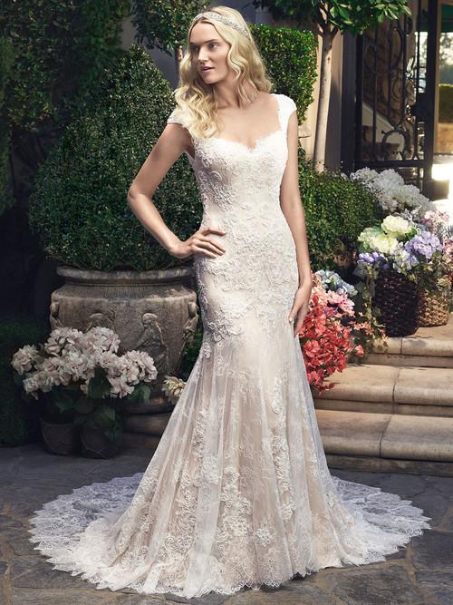Casablanca 2215 Cap Sleeved Sweetheart Wedding Dress
