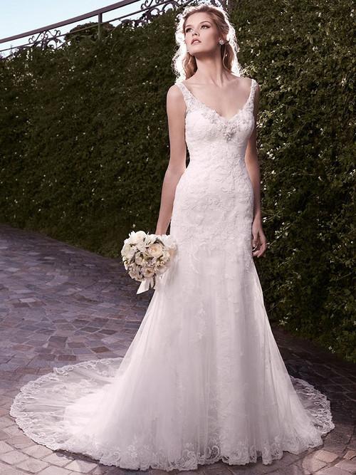 Casablanca 2135 Fit & Flare V-Neckline Wedding Dress