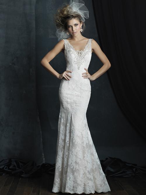 Allure Couture C381 V-neck Wedding Dress