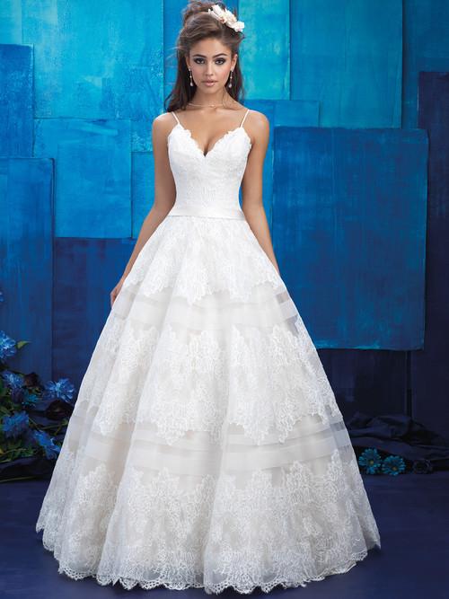 Allure Bridals 9400 V-neck Wedding Gown