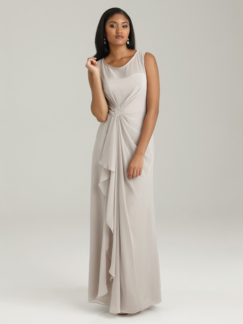 Bateau Neckline Allure Bridesmaid Dress 1318