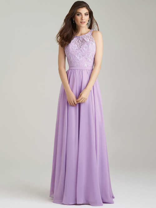 Allure 1465 High Neck Bridesmaid Dress