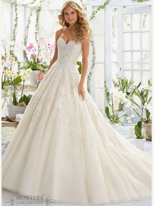 Mori Lee 2808 Sweetheart Beaded Bridal Dress