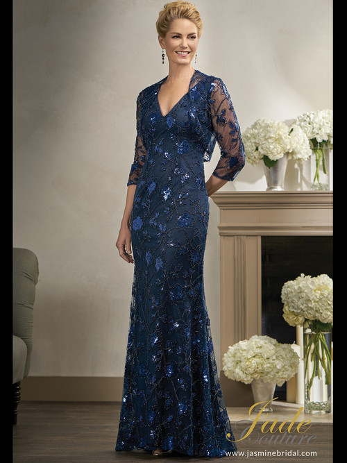 Jade Couture K198008 V-neck Mother Of The Bride