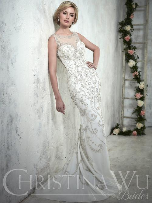 Christina Wu 15608 Illusion Neckline Bridal Gown