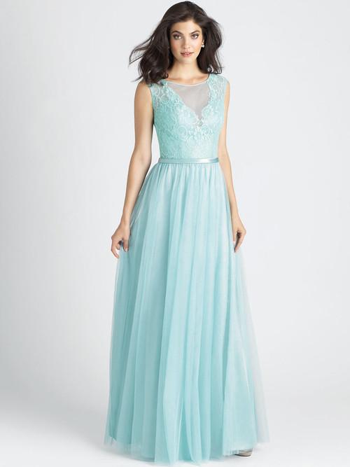 Allure 1511 Illusion Scoop Neckline Bridesmaid Dress