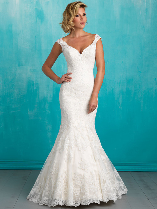 Allure 9322 V-neck Bridal Dress