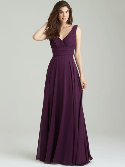 Allure 1455 V-neck Bridesmaid Dress