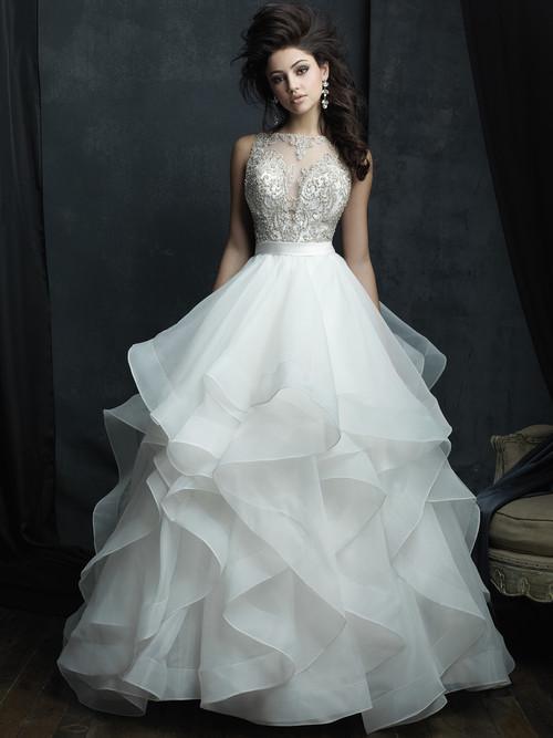 Allure Couture C380 High Neck Wedding Dress