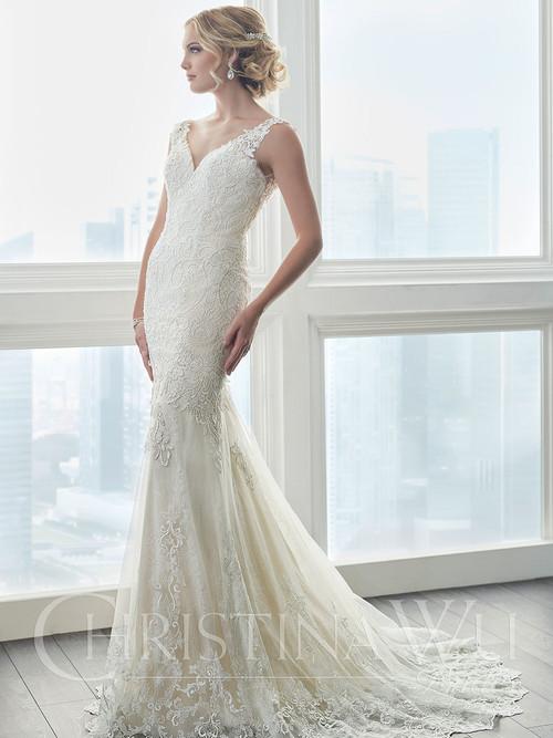 Christina Wu 15625 V-neckline Wedding Dress