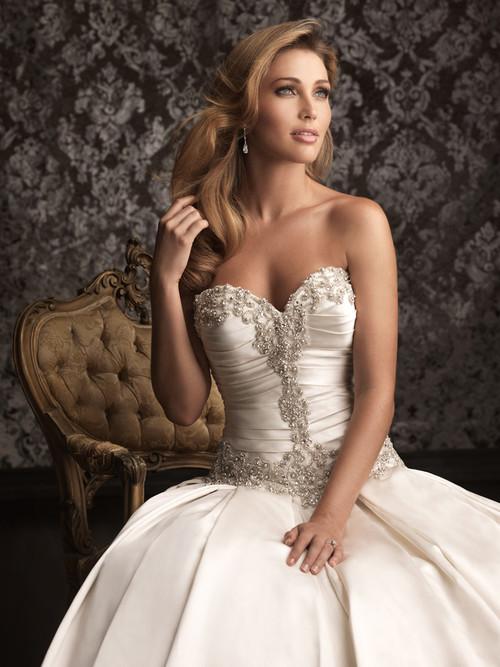 Strapless Allure Bridal Ball Gown Wedding Dress 9003 - Dimitra Designs