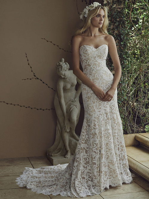 Casablanca 2226 Lace Overlay Wedding Dress