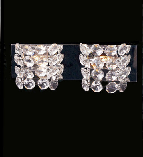 Modern crystal wall sconce light cw40945 2 wall lightsmodern wall modern vanity crystal wall light sconcecrystal wall lightcrystal wall sconcewall aloadofball Gallery