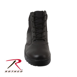 style 5054 Rothco's Forced Entry Security Boots Feature A Suede Collar, Steel Shank, Slip-Resistant Cup Sole Rust-Proof Hardware.