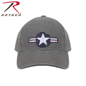 Rothco's classic low pro cap features the vintage Army Air Corps logo on the front panel with a black sandwich brim and adjustable hook & loop closure in the back.