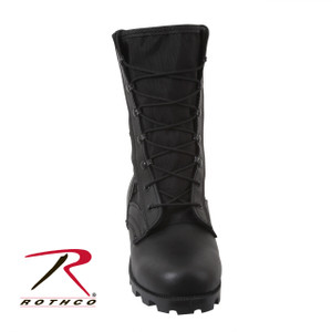"""Rothco's GI Type Speedlace Jungle Boots Feature A Nylon / Leather Upper, Padded Collar, Removable Cushion Insole, Side Vents And Vulcanized Rubber """"Panama"""" Sole. The GI Type Speedlace Jungle Boots Are Available In Sizes 1 To 15 Regular Width And 5 To 13 Wide Width."""