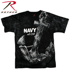 66320 Rothco Vintage 'Navy Anchor' T-shirt