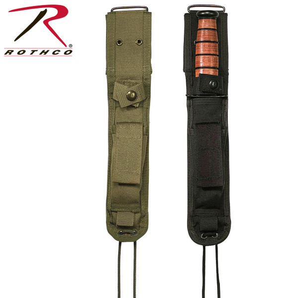 Fits 7 Inches Military Knives Including Ka-bars USMC Combat Knife Ets. 2 3/4 Inches Hook & Loop Belt Loop Stone Pouch Leg Ties